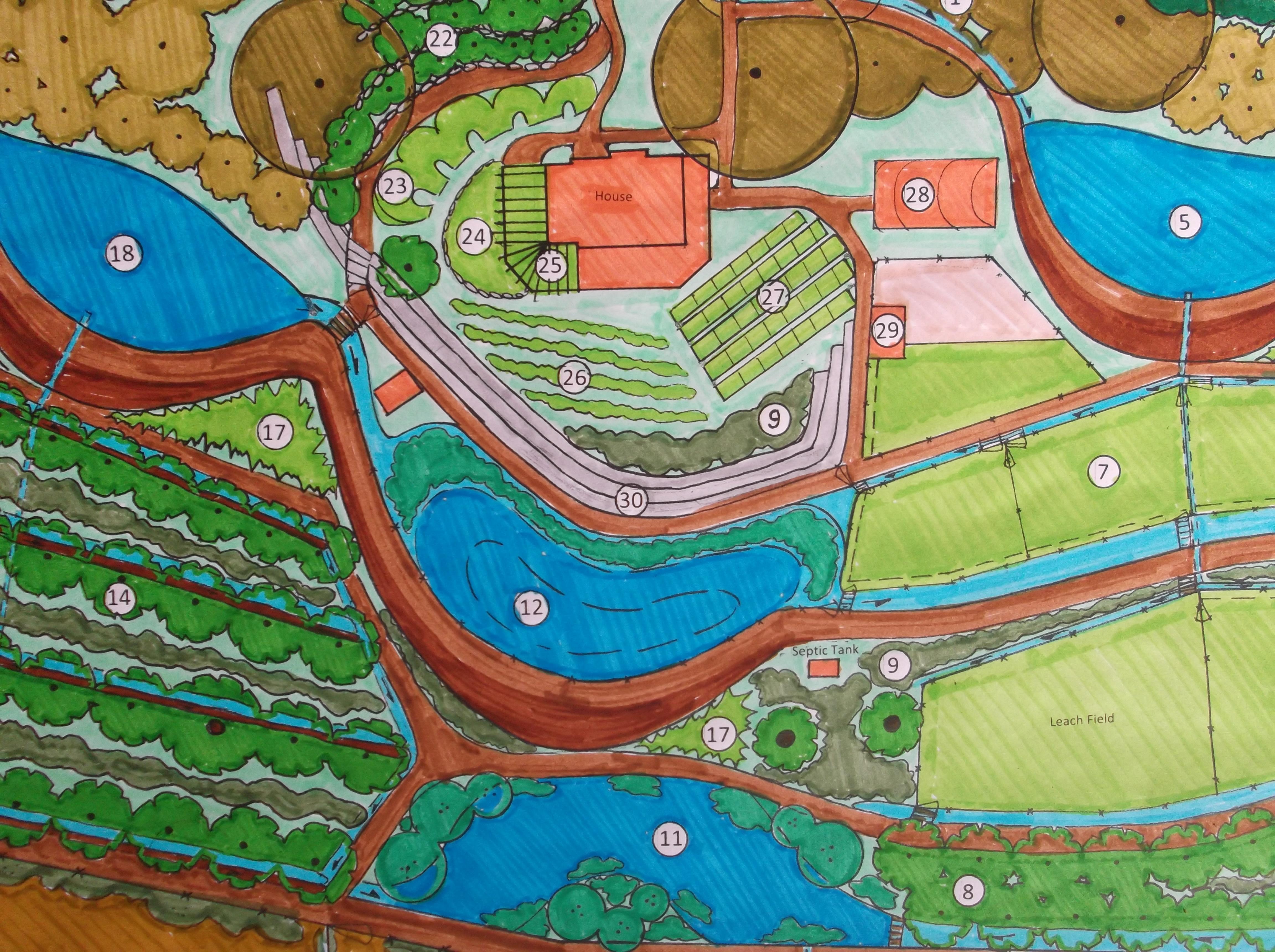5 acre horse farm design, farm layout design, 2 acre farm design, on 20 acre homestead design