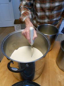 Cutting the curd