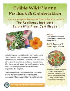 Edible Wild Plant Potluck & Celebration flyer