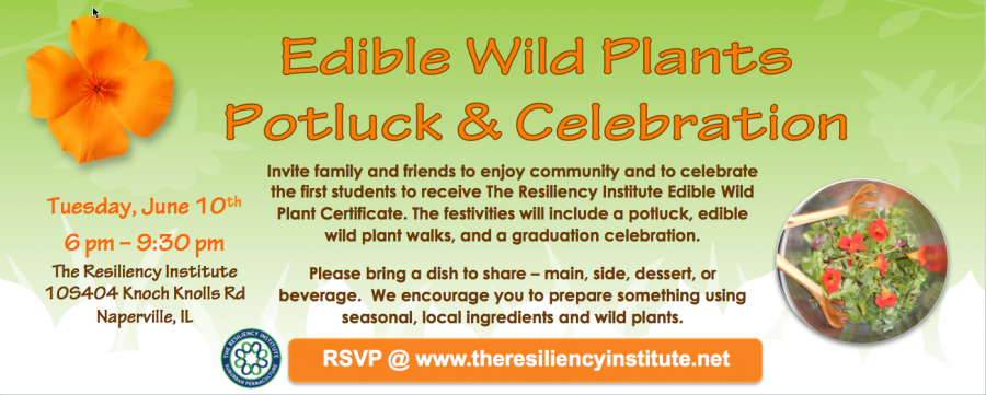 Edible Wild Plants Potluck & Celebration Banner