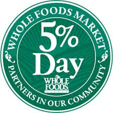 WFM 5 Percent Day Circle Logo