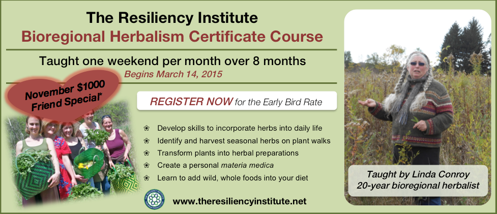 TRI Bioregional Herbalism Certificate_November Special